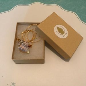 Periwinkle Sea Shell 18K Gold Necklace